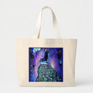 Pretty Peacock Tote Bag by Carol Zeock