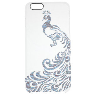 Pretty peacock tribal modern vintage bird clear clear iPhone 6 plus case