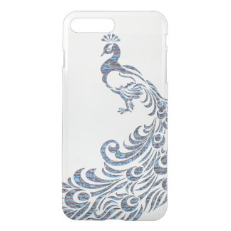 Pretty peacock tribal modern vintage bird clear iPhone 8 plus/7 plus case