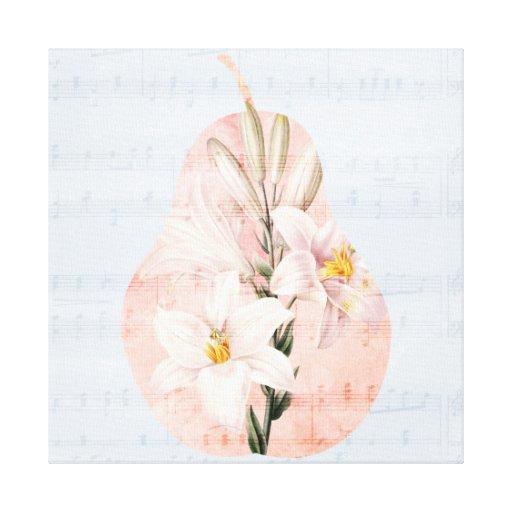 Pretty Pear Canvas Prints