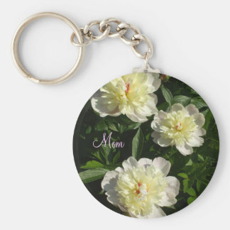 Pretty Peonies Key Ring
