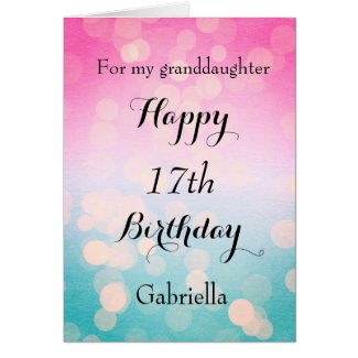 Pretty Personalised Granddaughter Birthday