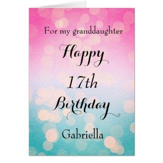 Pretty Personalised Granddaughter Birthday