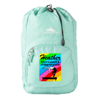 PRETTY PERSONALIZED GYMNASTICS BACK PACK