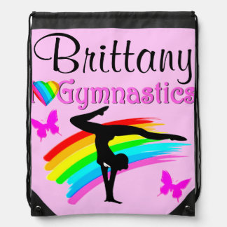 PRETTY PERSONALIZED GYMNASTICS BAG