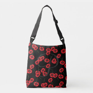 Pretty Personalized Poppy Pattern Tote