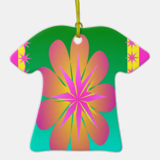 Pretty Petals Double-Sided T-Shirt Ceramic Christmas Ornament