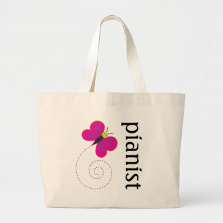 Pretty Pianist Piano Tote Bag
