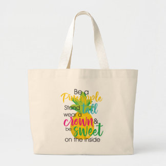Pretty Pineapple Large Tote Bag