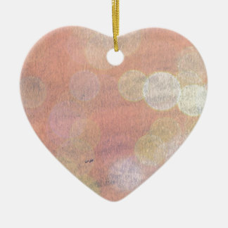 Pretty Pink Abstract Glitter Ceramic Heart Decoration