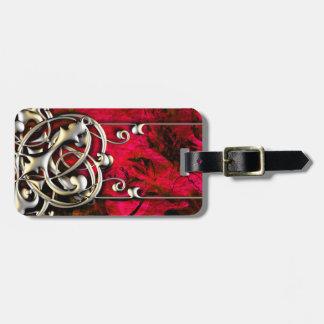 Pretty Pink Abstract Gold Fantasy Grunge Design Bag Tag