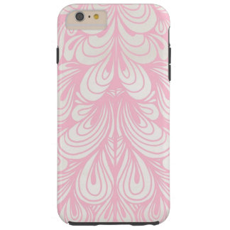 pretty pink abstract tough iPhone 6 plus case
