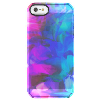 Pretty Pink and Blue Abstract Shiny Clear iPhone SE/5/5s Case
