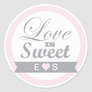 Pretty Pink and Grey Favor Stickers