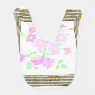 Pretty Pink And Mauve Flowers Bib