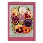 Pretty Pink and Purple Pansies Vintage Art