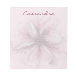 Pretty Pink and White Floral Notepad