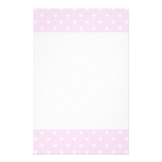 Pretty pink and white love heart pattern. 14 cm x 21.5 cm flyer