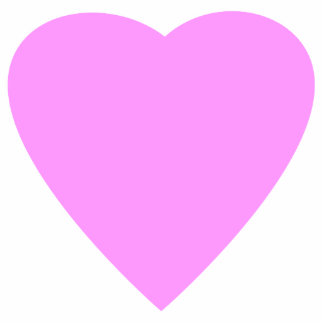 Pretty Pink and White Love Heart Photo Cut Out