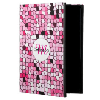 Pretty Pink and White Mosaic Design Personalized Powis iPad Air 2 Case