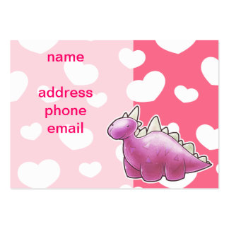 Pretty Pink Baby Dinosaur Business Card