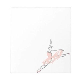 Pretty Pink Ballerina Notepad