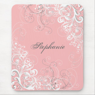 Pretty Pink Baroque Mouse Pad