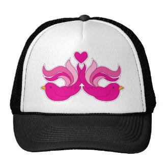 Pretty pink birdys cap