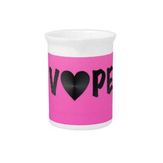 Pretty Pink Black Vape Heart Beverage Pitcher