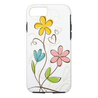 Pretty Pink Blue Orange Floral iPhone 7 Case