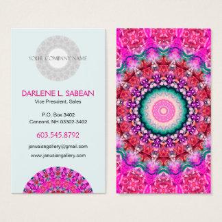 Pretty Pink Boho Mandala Kaleidoscope Business Card