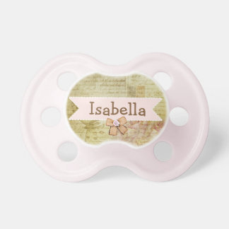 Pretty Pink Bow Personalized Baby Girl Pacifier