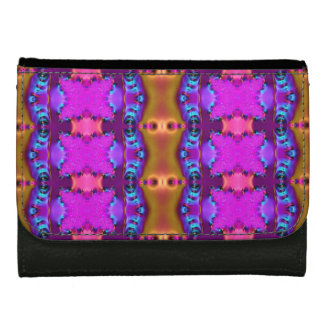 Pretty Pink Brown Fancy Abstract Design Wallet