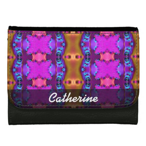 Pretty Pink Brown Fancy Abstract Design Wallets