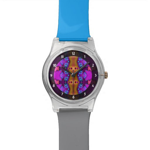 Pretty Pink Brown Fancy Abstract Design Watches