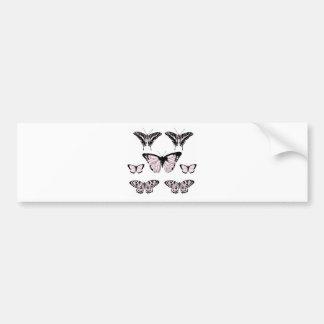Pretty Pink Butterflies Bumper Stickers