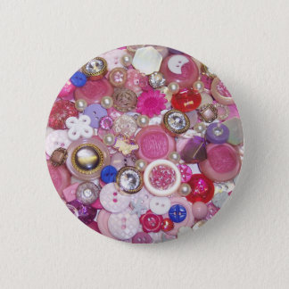 Pretty Pink Button Collage