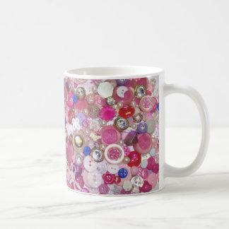 Pretty Pink Button Collage Coffee Mug