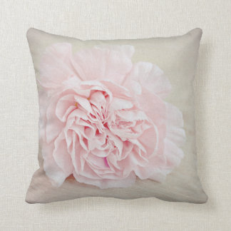 Pretty Pink Carnation by JoMazArt Cushion