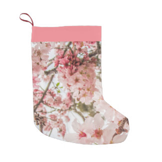 Pretty Pink Cherry Blossoms - Small Christmas Stocking