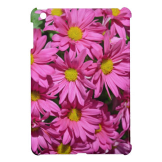 Pretty pink chrysanthemum flowers print iPad mini covers