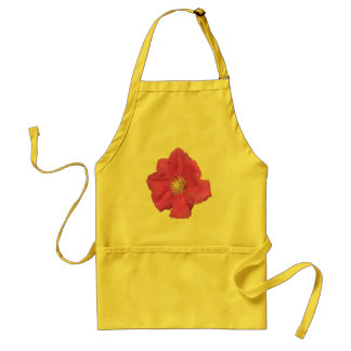Pretty Pink Clematis Flower Adult Apron