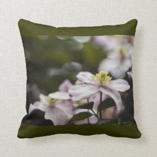 Pretty Pink Clematis flower Throw Pillows