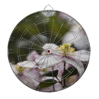Pretty Pink Clematis flower Dart Boards
