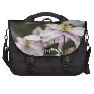 Pretty Pink Clematis flower Laptop Bag