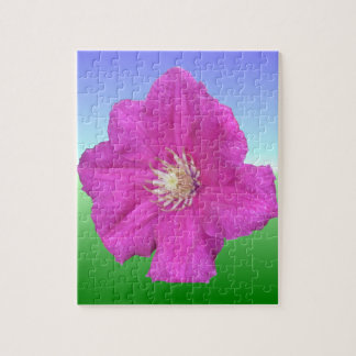 Pretty Pink Clematis Flower Jigsaw Puzzles