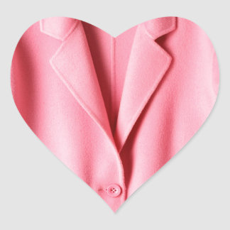 Pretty Pink Coat Collar Heart Sticker