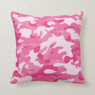 Pretty Pink Colors Camouflage Pattern Cushion
