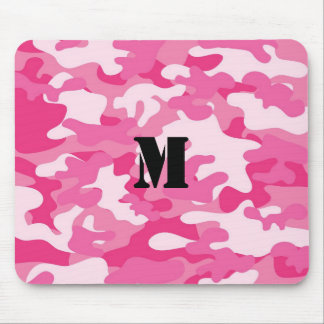 Pretty Pink Colors Camouflage Pattern Mouse Mat