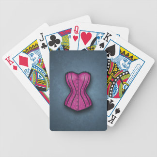Pretty Pink Corset Bicycle Playing Cards